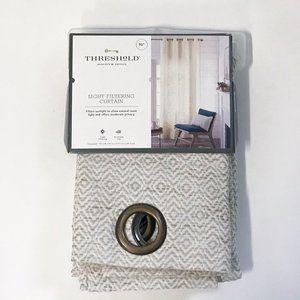 Spacedye Diamond Weave Curtain Panel - Threshold